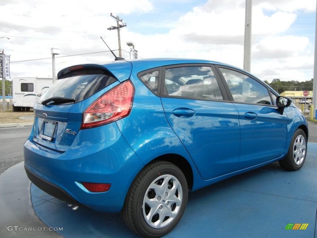 blue candy metallic 2012 ford fiesta se hatchback exterior photo 71647636. Black Bedroom Furniture Sets. Home Design Ideas