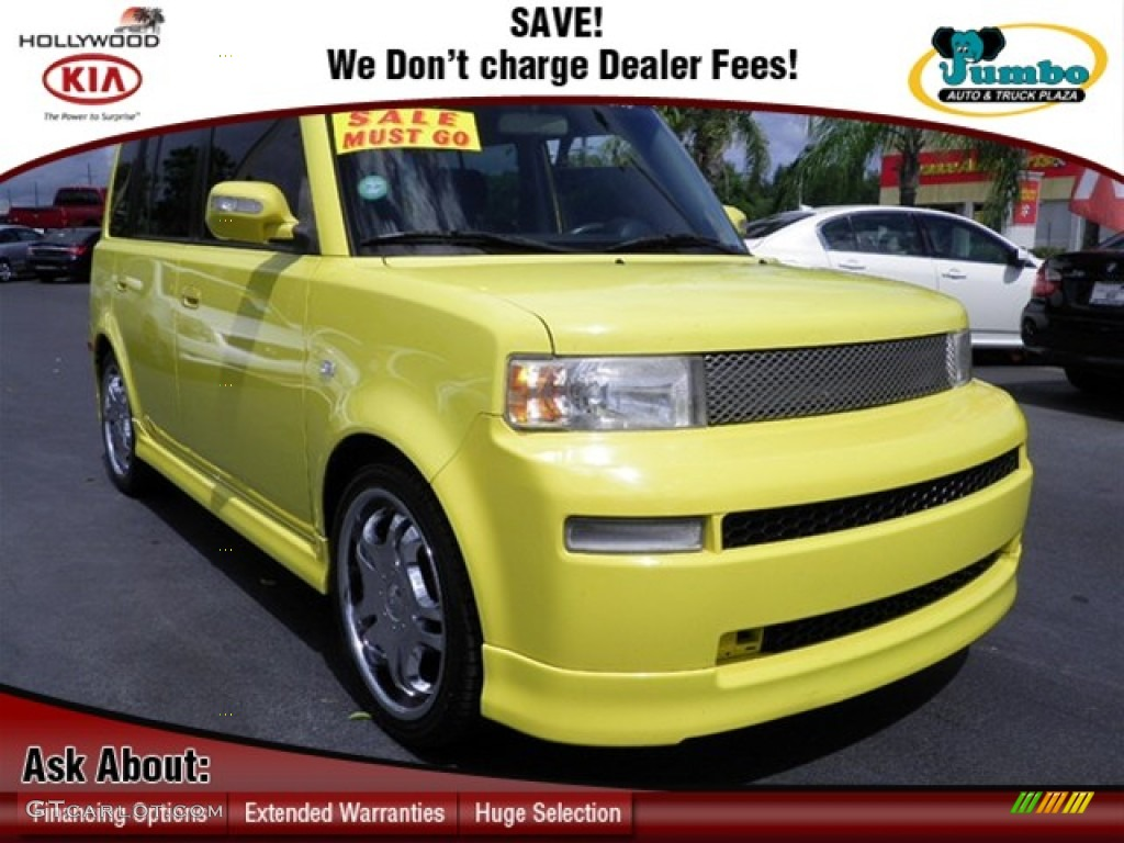 Solar Yellow Scion xB