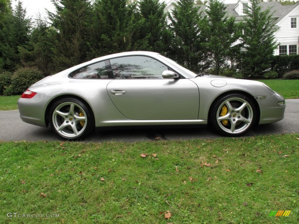 gt silver metallic 2006 porsche 911 carrera 4s coupe. Black Bedroom Furniture Sets. Home Design Ideas