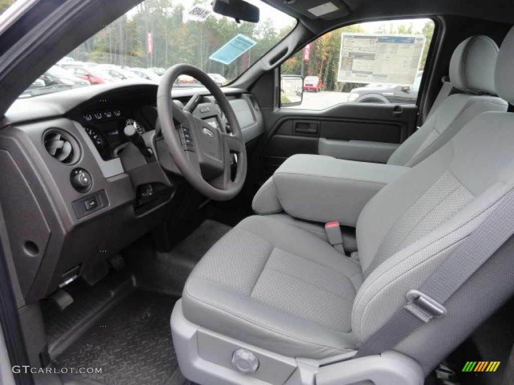 steel gray interior 2013 ford f150 xl regular cab photo. Black Bedroom Furniture Sets. Home Design Ideas