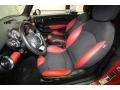 Black/Rooster Red Interior Photo for 2009 Mini Cooper #71690650