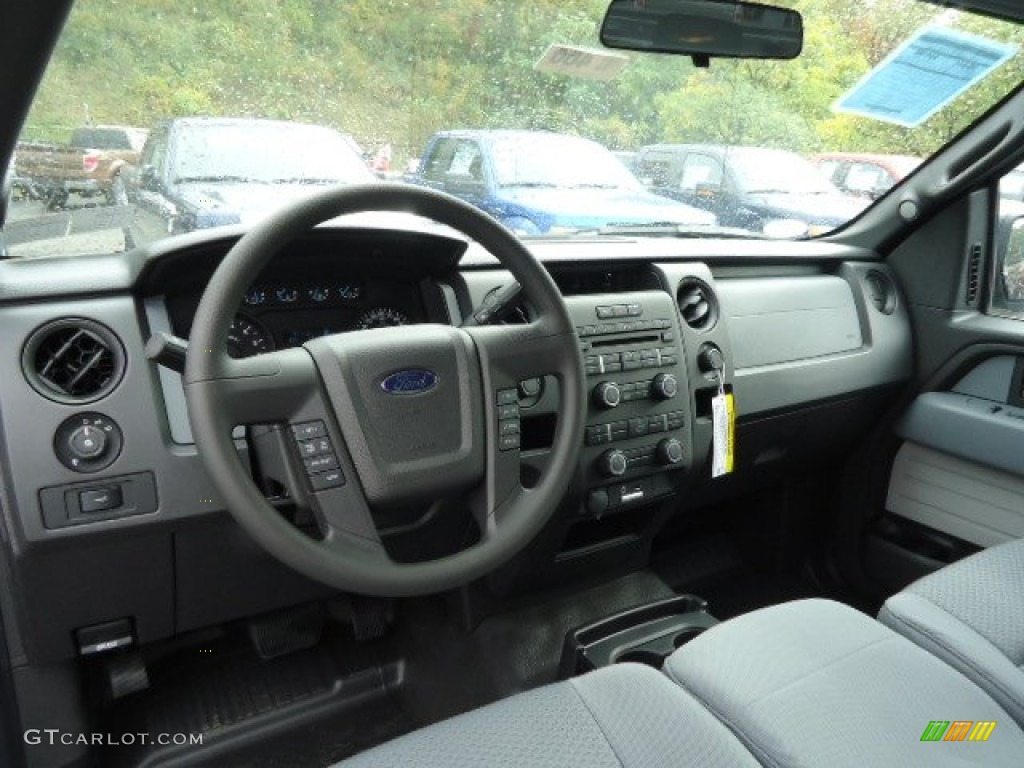 steel gray interior 2013 ford f150 stx supercab 4x4 photo. Black Bedroom Furniture Sets. Home Design Ideas