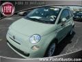 Verde Chiaro (Light Green) 2012 Fiat 500 c cabrio Pop
