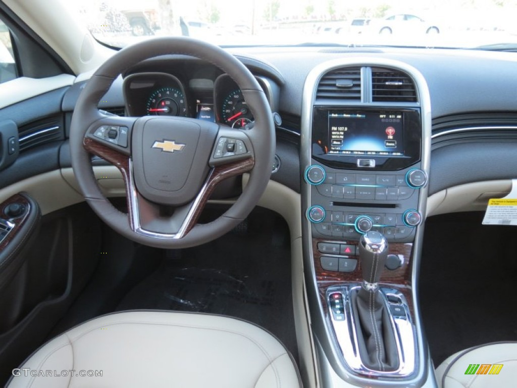 2013 Chevrolet Malibu Ltz Cocoa Light Neutral Dashboard
