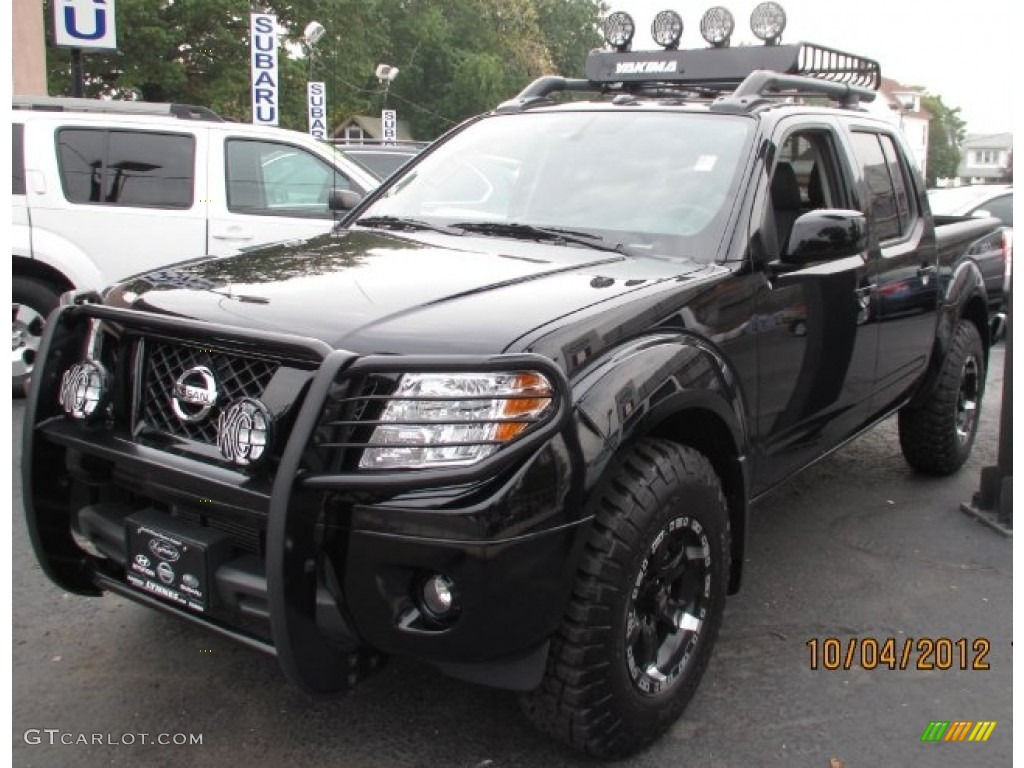 2012 super black nissan frontier pro 4x crew cab 4x4. Black Bedroom Furniture Sets. Home Design Ideas