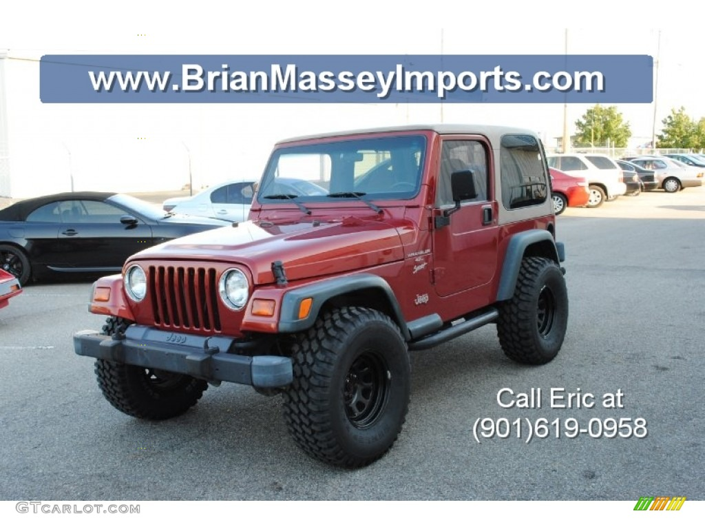 1999 Chili Pepper Red Pearlcoat Jeep Wrangler Sport 4x4 #71688342 ...