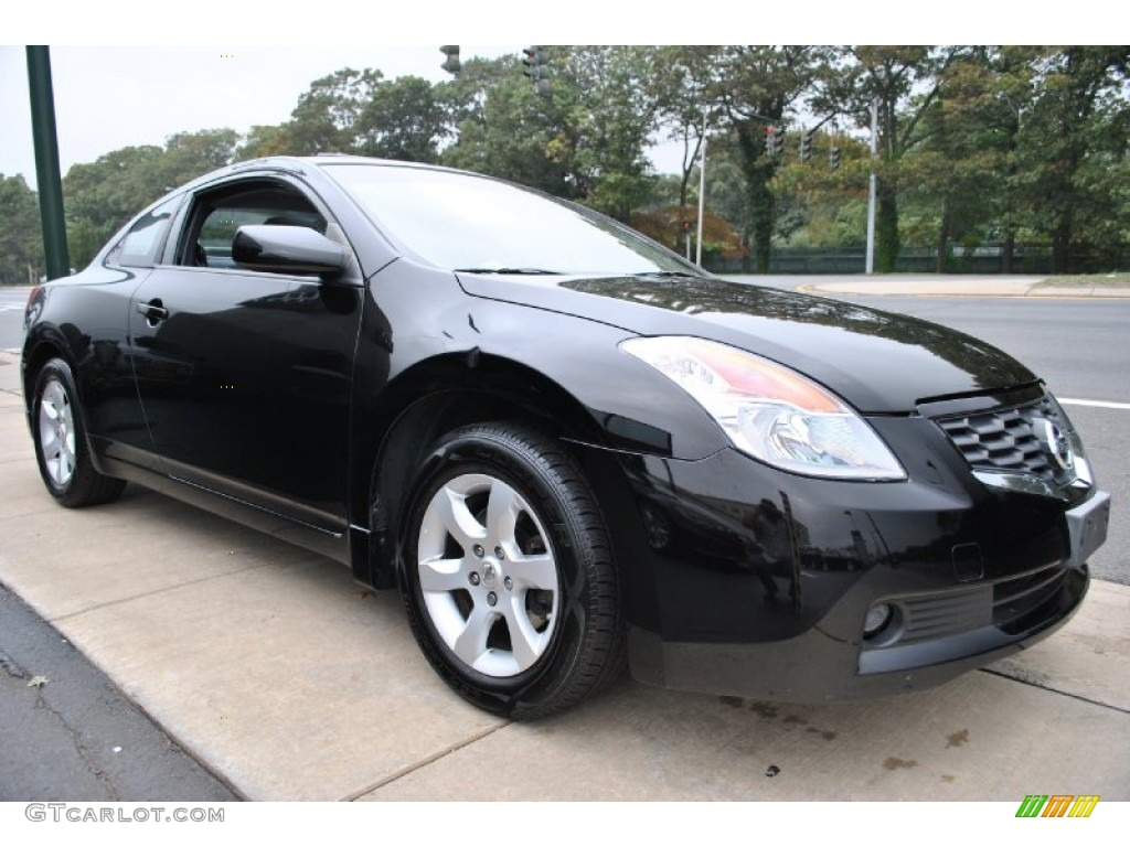 super black 2008 nissan altima 2 5 s coupe exterior photo 71732747. Black Bedroom Furniture Sets. Home Design Ideas