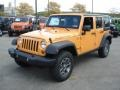2013 Dozer Yellow Jeep Wrangler Unlimited Rubicon 4x4  photo #2
