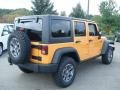 2013 Dozer Yellow Jeep Wrangler Unlimited Rubicon 4x4  photo #6