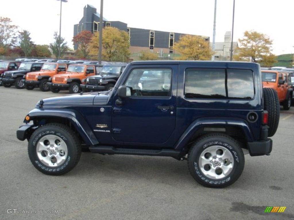 2013 True Blue Pearl Jeep Wrangler Sahara 4x4 71744745