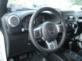 Freedom Edition Black Tectonic/Quick Silver Accent Interior Photo for 2012 Jeep Wrangler #71750027