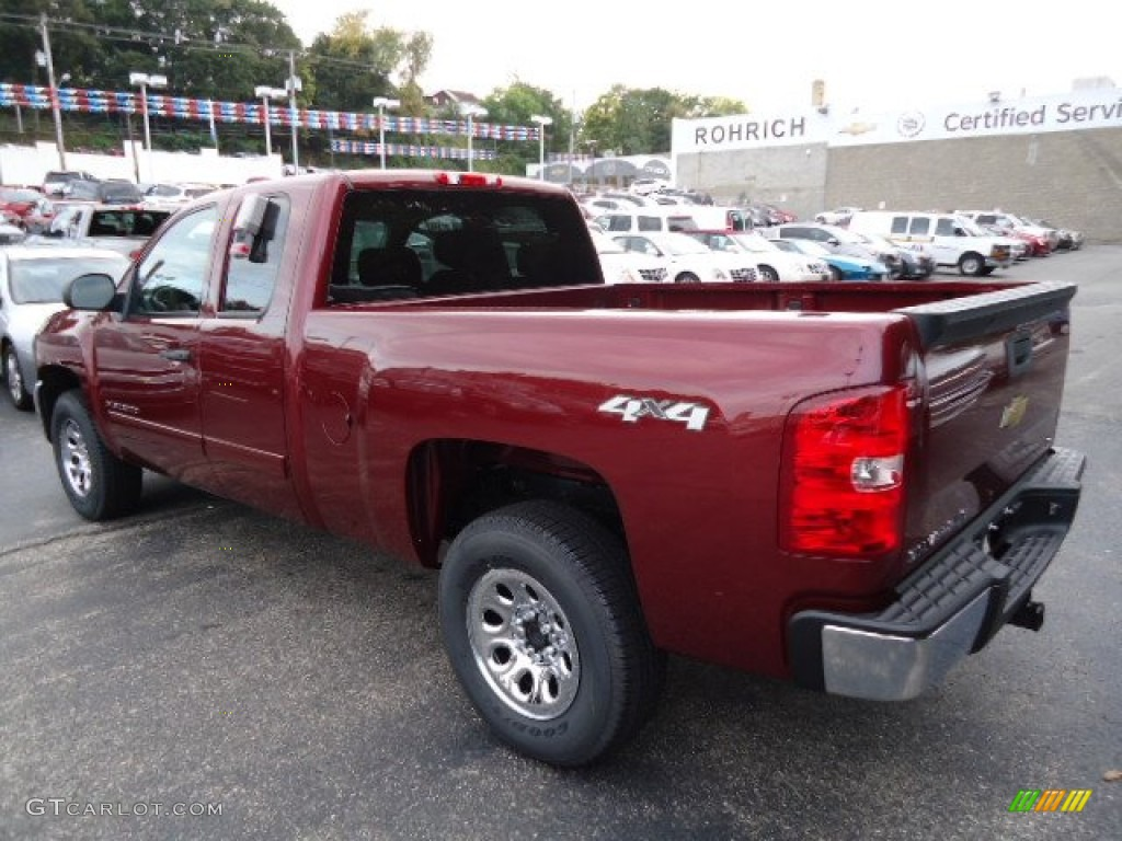2013 Silverado 1500 LS Extended Cab 4x4 - Deep Ruby Metallic / Ebony photo #2