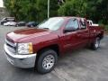 2013 Deep Ruby Metallic Chevrolet Silverado 1500 LS Extended Cab 4x4  photo #9