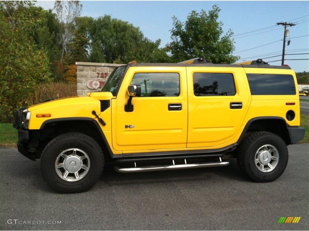 2003 H2 SUV - Yellow / Black photo #1