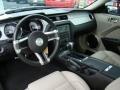 2010 Ford Mustang Stone Interior Prime Interior Photo