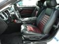 2012 Ford Mustang Lava Red/Charcoal Black Interior Front Seat Photo