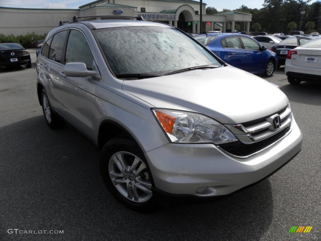 2011 CR-V EX-L - Alabaster Silver Metallic / Black photo #1