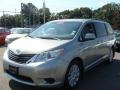 2012 Silver Sky Metallic Toyota Sienna LE AWD  photo #3