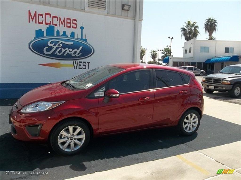 2013 Fiesta SE Hatchback - Ruby Red / Charcoal Black photo #1