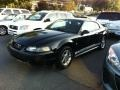 2002 Black Ford Mustang V6 Coupe  photo #3