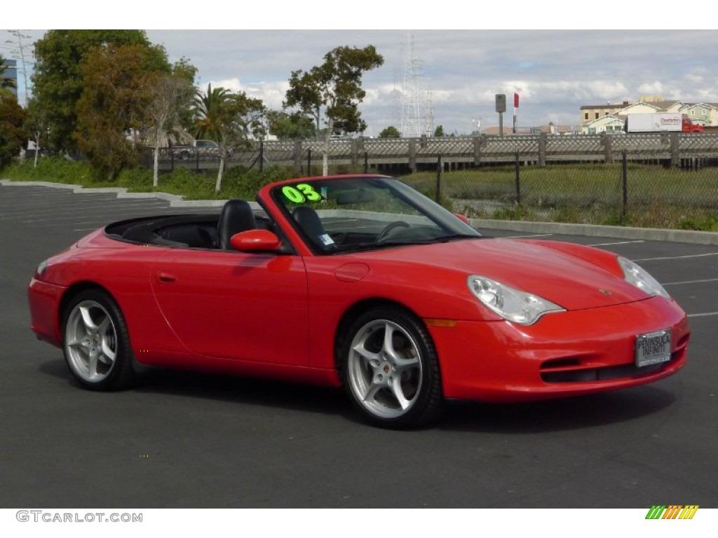 2003 Guards Red Porsche 911 Carrera Cabriolet 71744461