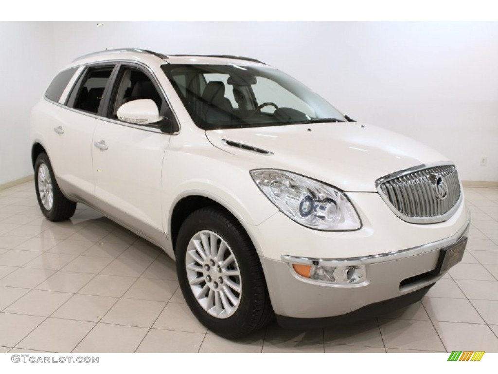 2009 Enclave CXL - White Diamond Tricoat / Ebony Black/Ebony photo #1
