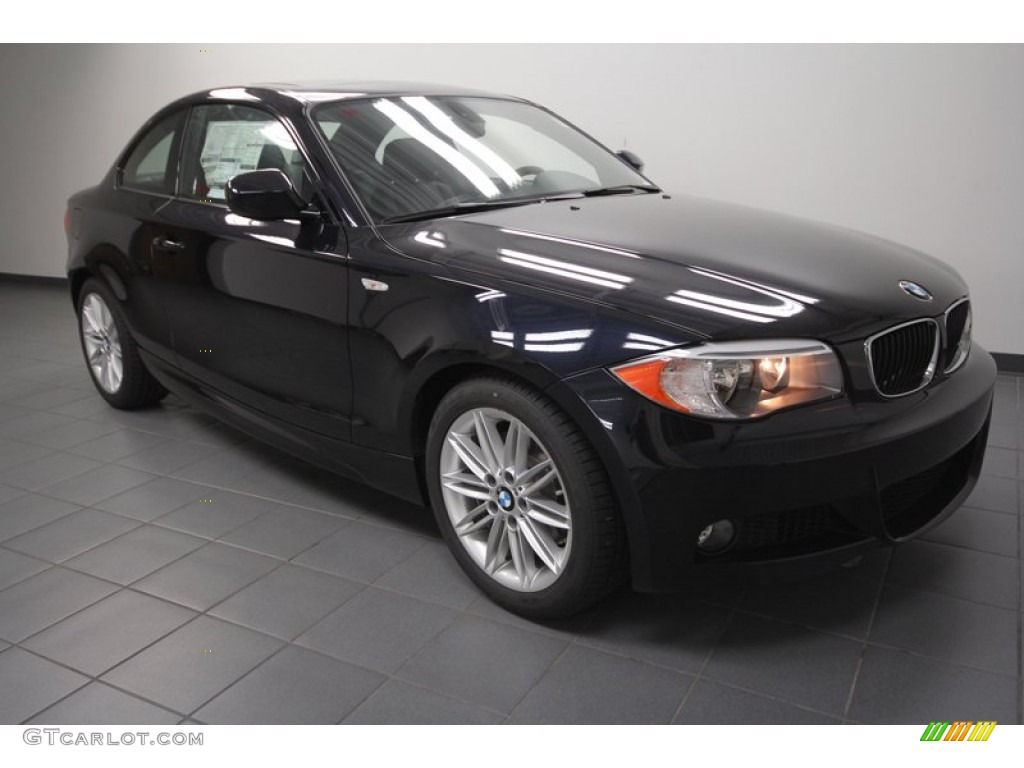2013 carbon black metallic bmw 1 series 128i coupe #71745165