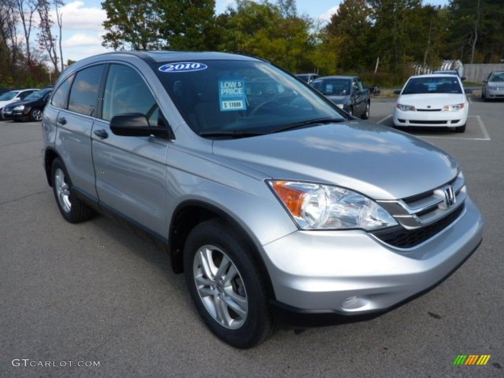 2010 CR-V EX - Alabaster Silver Metallic / Gray photo #1