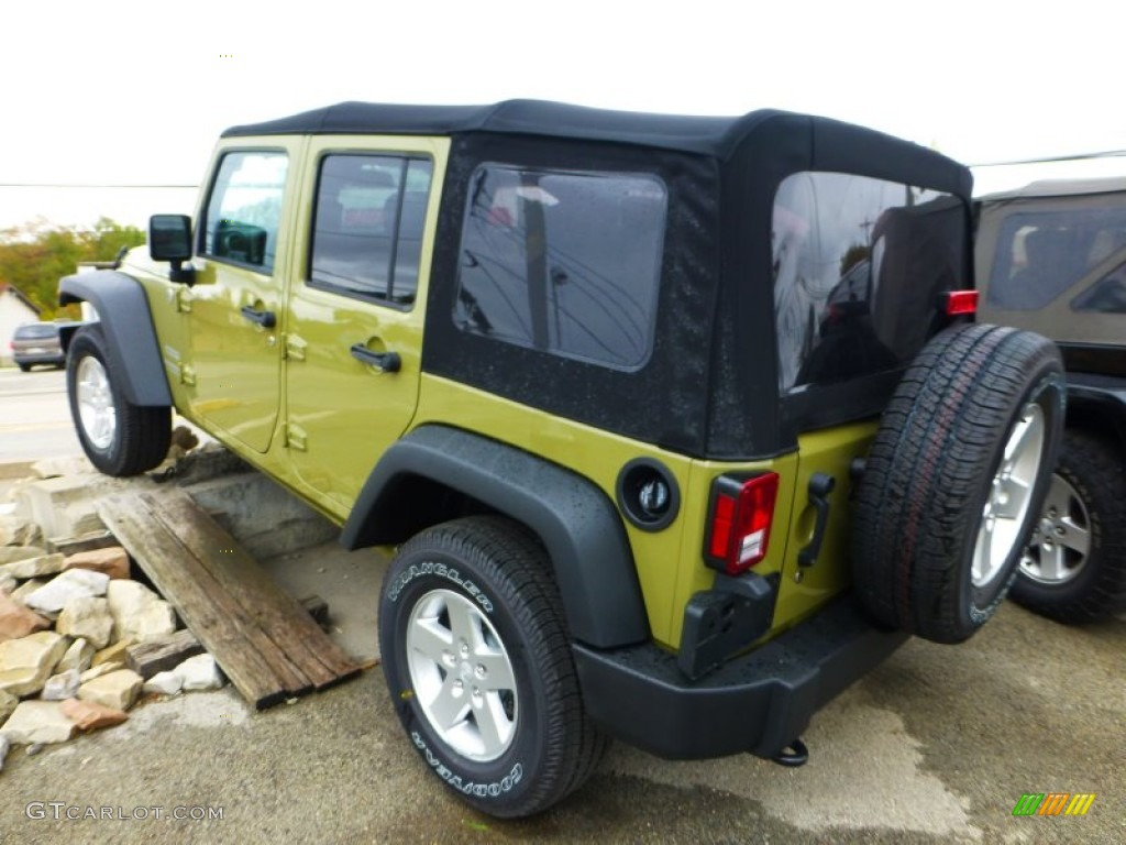commando green 2013 jeep wrangler unlimited sport s 4x4. Black Bedroom Furniture Sets. Home Design Ideas