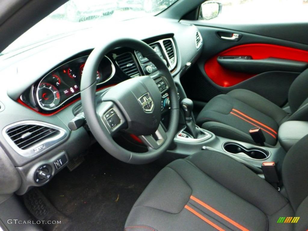 Black Ruby Red Interior 2013 Dodge Dart Rallye Photo 71835737