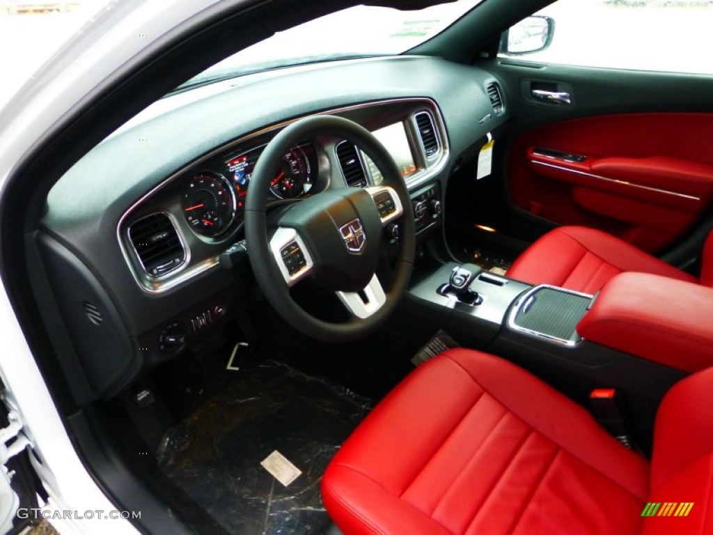Black Red Interior 2012 Dodge Charger Sxt Plus Photo