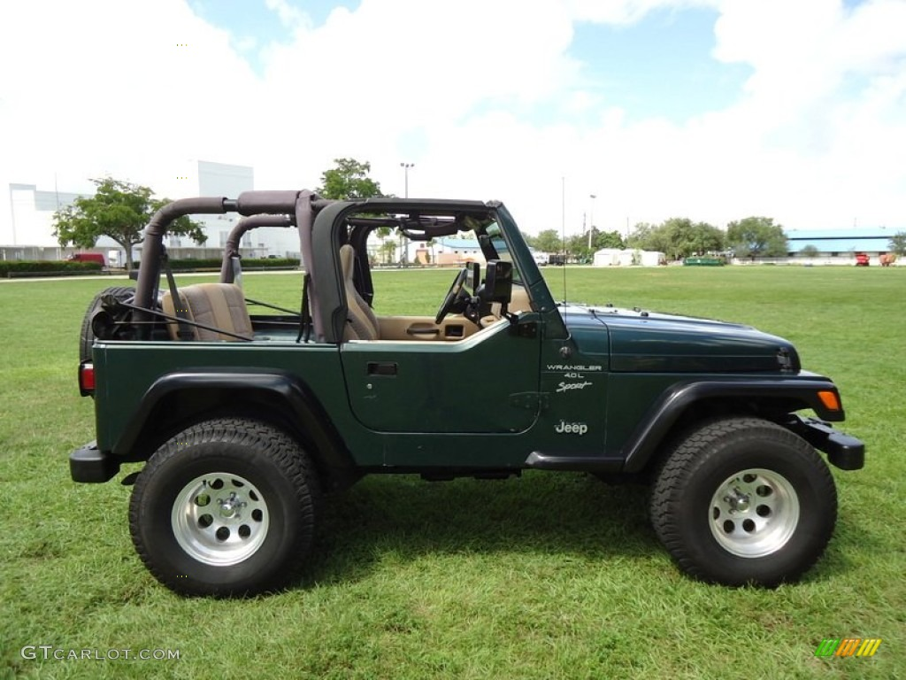 Forest Green Pearlcoat 1999 Jeep Wrangler Sport 4x4 ...