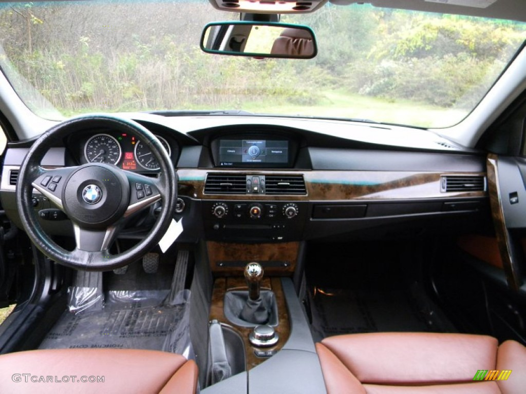 2007 bmw 5 series 530i sedan auburn dashboard photo #71843949