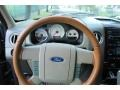 2005 Ford F150 Castano Brown Leather Interior Steering Wheel Photo