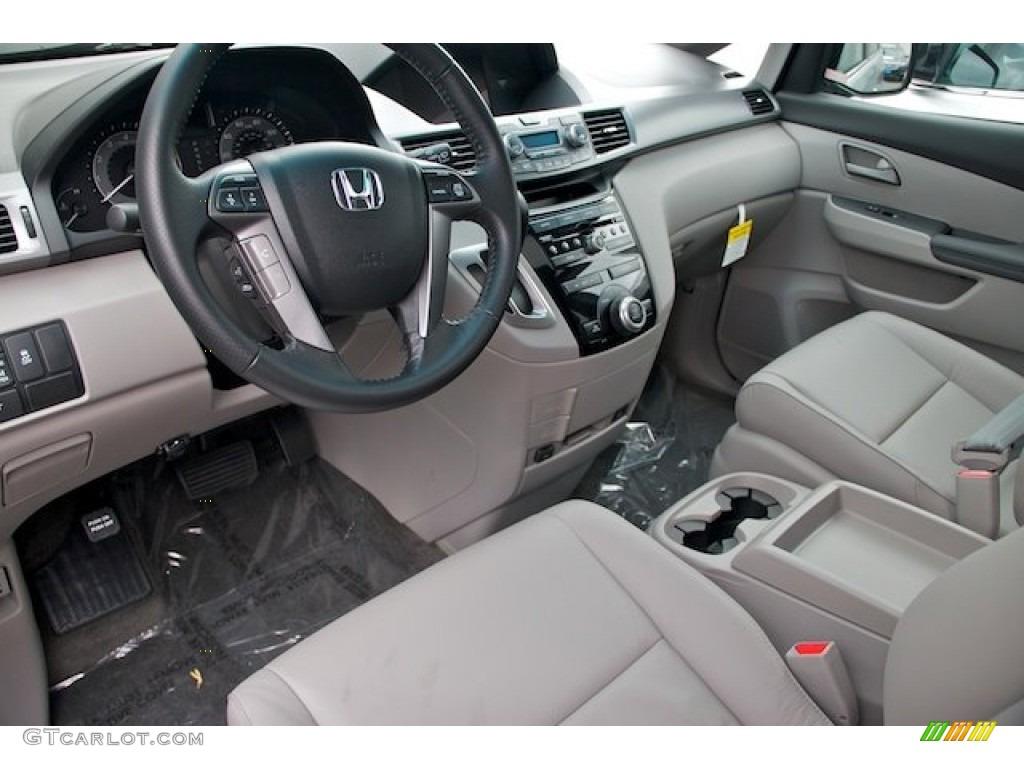 Gray Interior 2013 Honda Odyssey EX L Photo #71872479