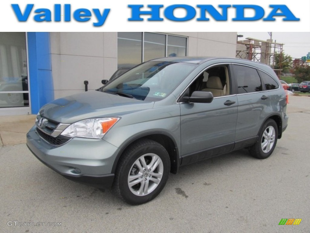 2010 CR-V EX AWD - Opal Sage Metallic / Ivory photo #1