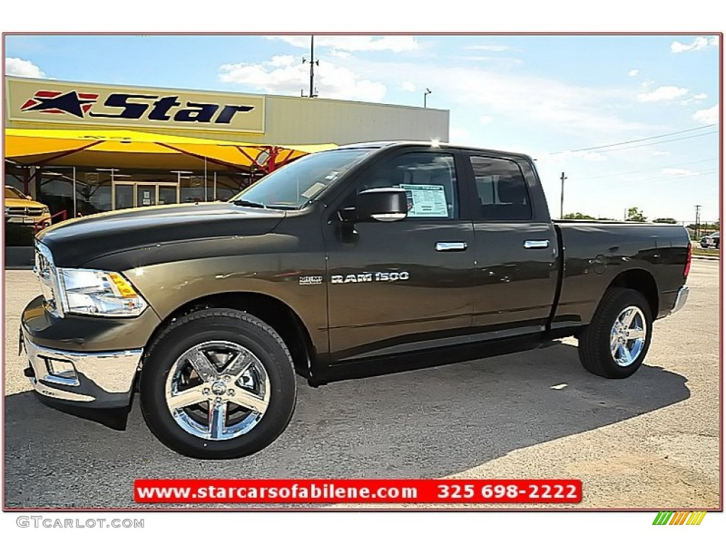 2012 Ram 1500 Lone Star Quad Cab 4x4 - Sagebrush Pearl / Light Pebble Beige/Bark Brown photo #1