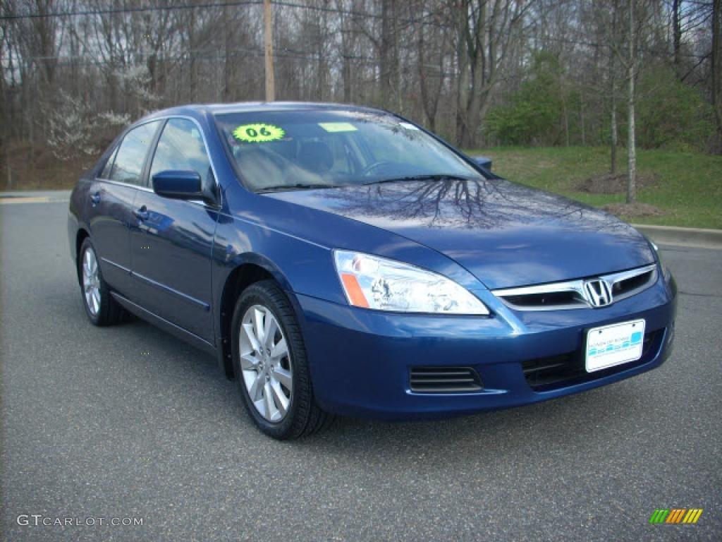 2006 Sapphire Blue Pearl Honda Accord Ex L V6 Sedan 7129915