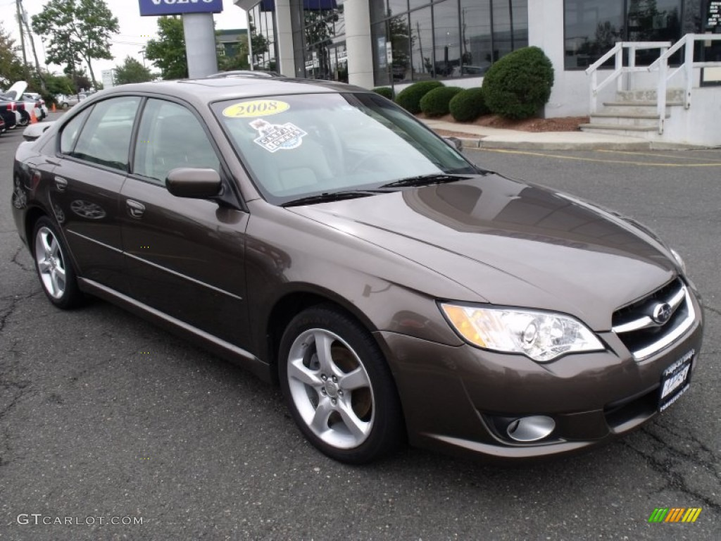 2008 deep bronze metallic subaru legacy 2.5i limited sedan