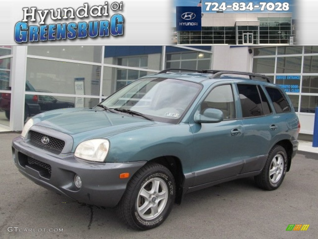 2002 pine green hyundai santa fe gls awd 71860415 gtcarlot com car color galleries gtcarlot com
