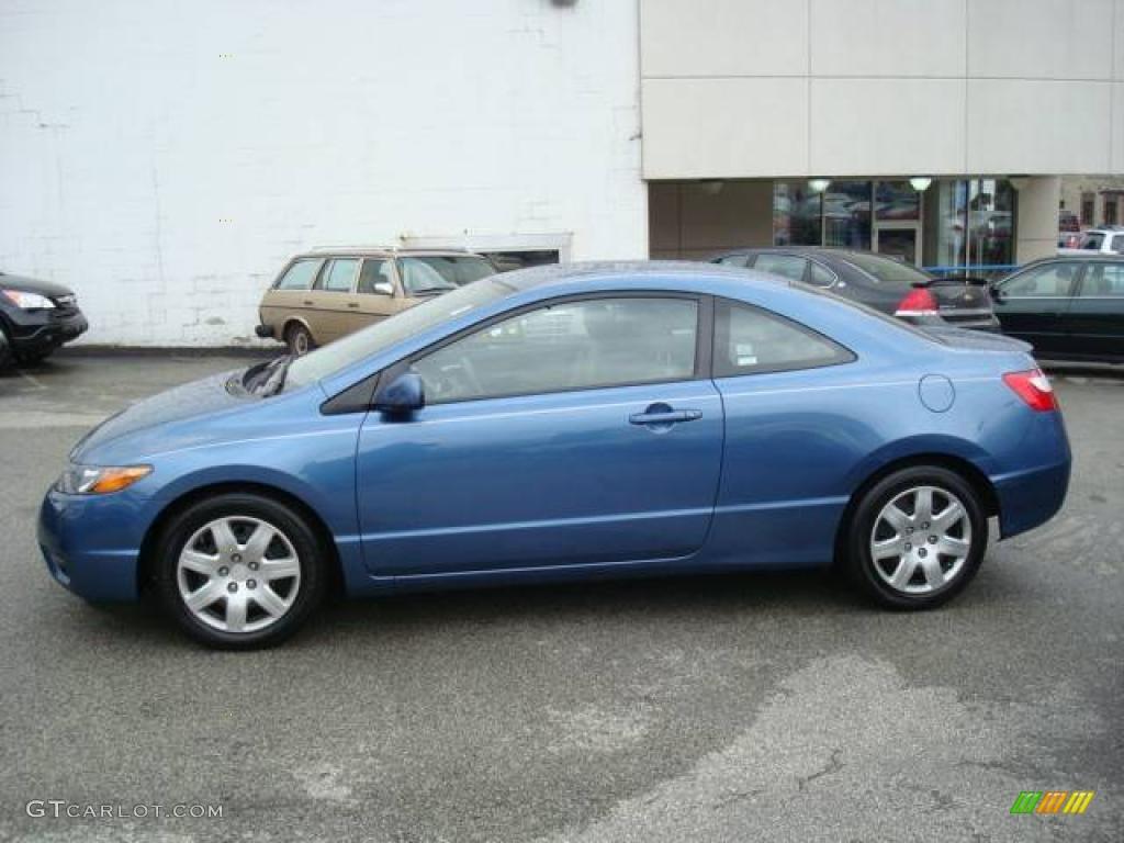 2006 Civic LX Coupe   Atomic Blue Metallic / Gray Photo #1