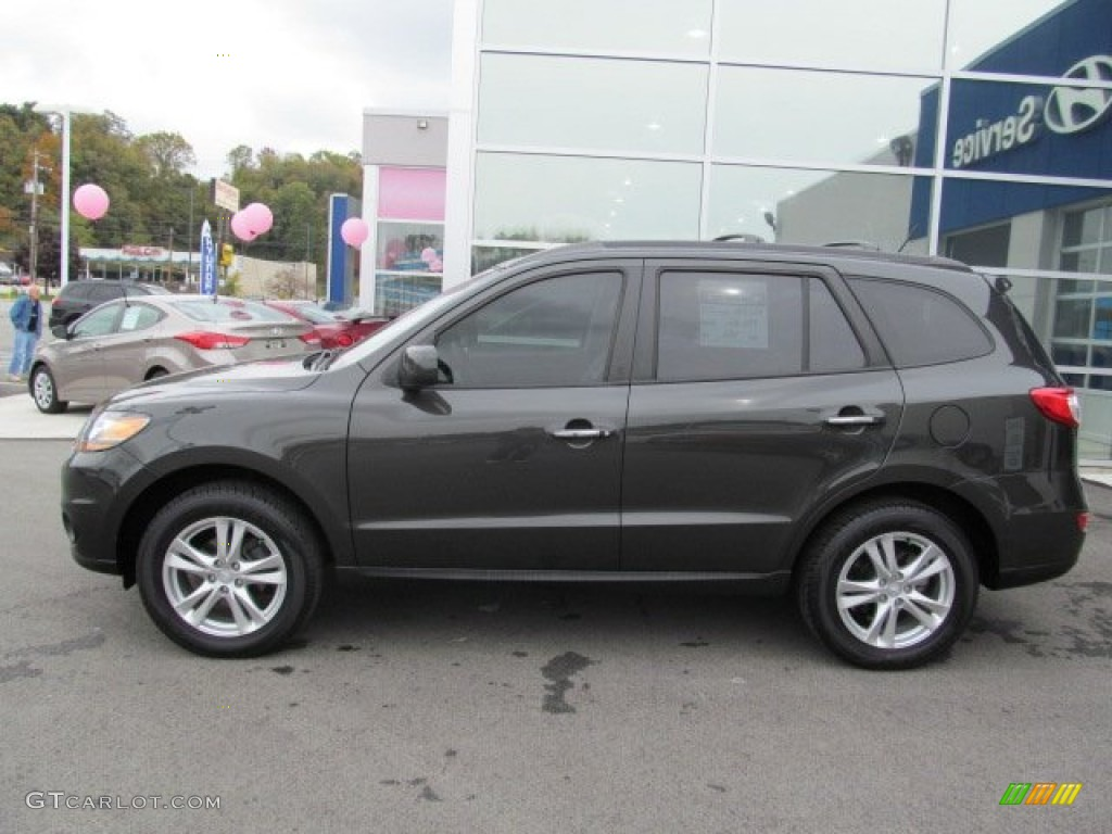 Black Forest Green 2011 Hyundai Santa Fe Limited Awd