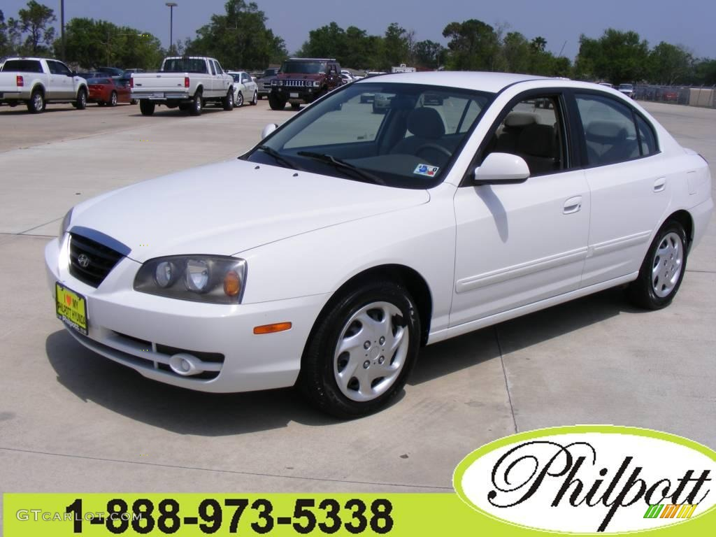 2005 elantra gls sedan nordic white gray photo 1