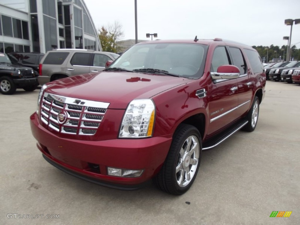 2013 Crystal Red Tintcoat Cadillac Escalade ESV Luxury ...