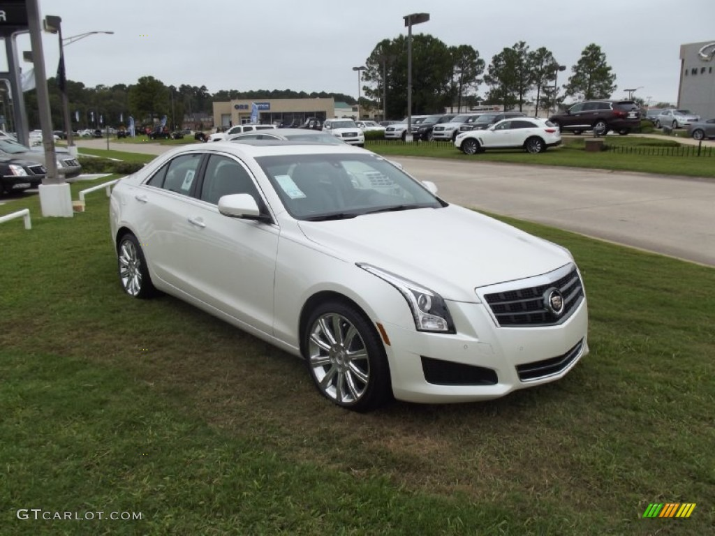 white diamond tricoat 2013 cadillac ats 2 5l luxury exterior photo 71913597. Black Bedroom Furniture Sets. Home Design Ideas