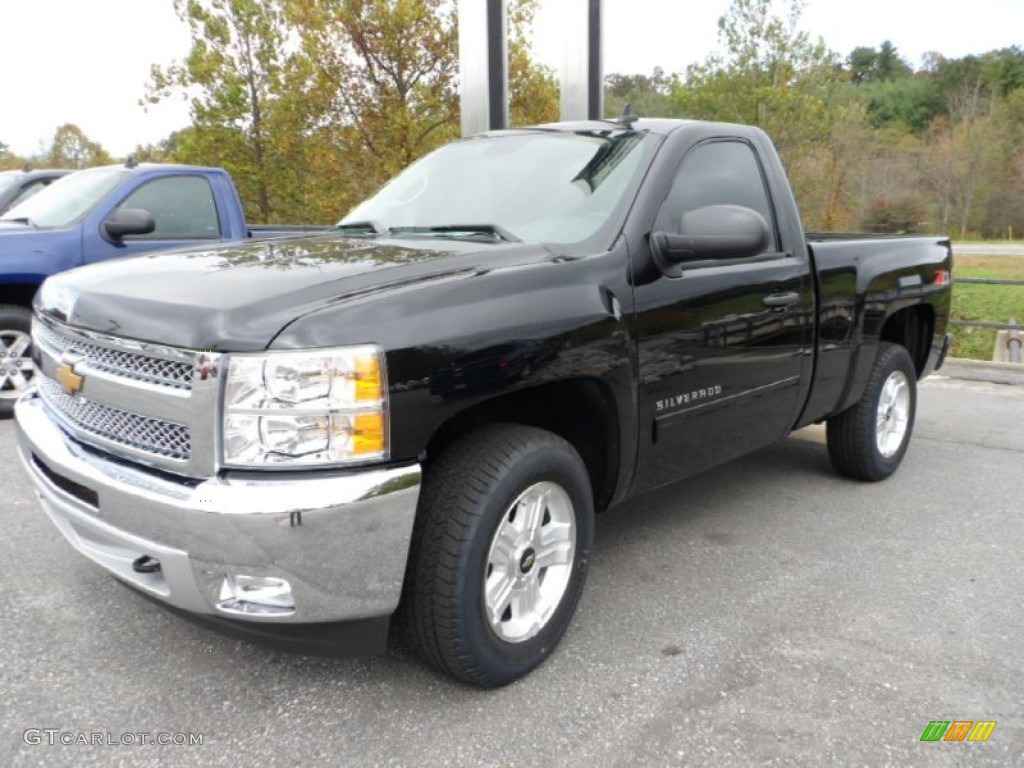 2013 Silverado 1500 LT Regular Cab 4x4 - Black / Ebony photo #3