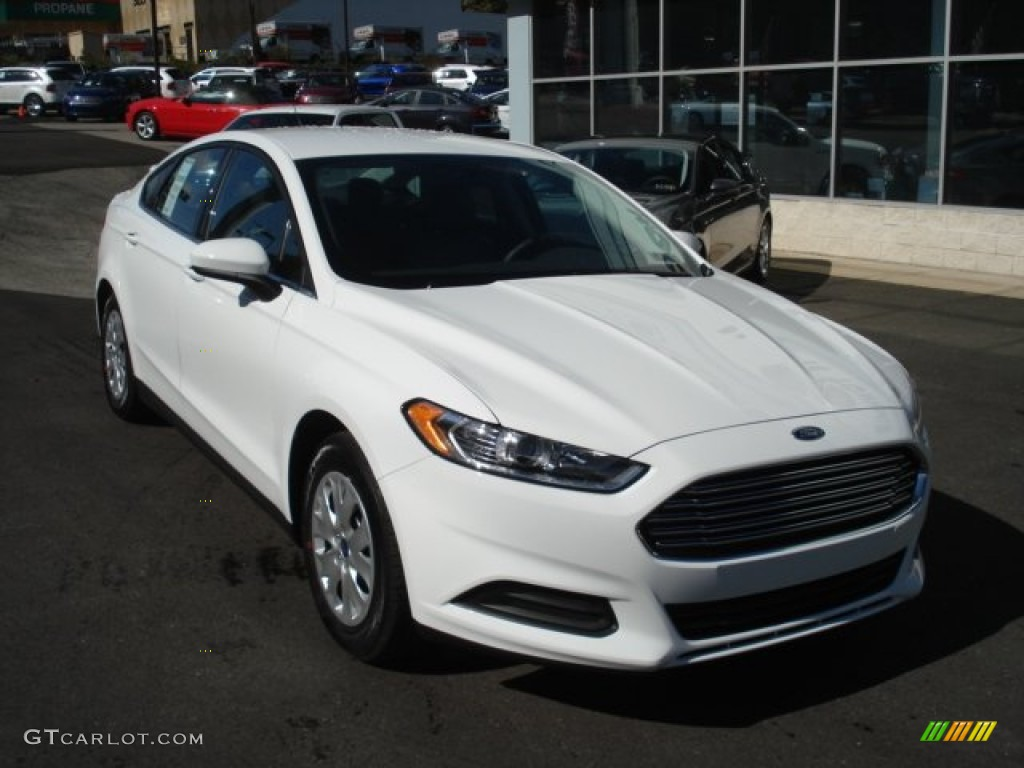 Oxford White 2013 Ford Fusion S Exterior Photo 71931972