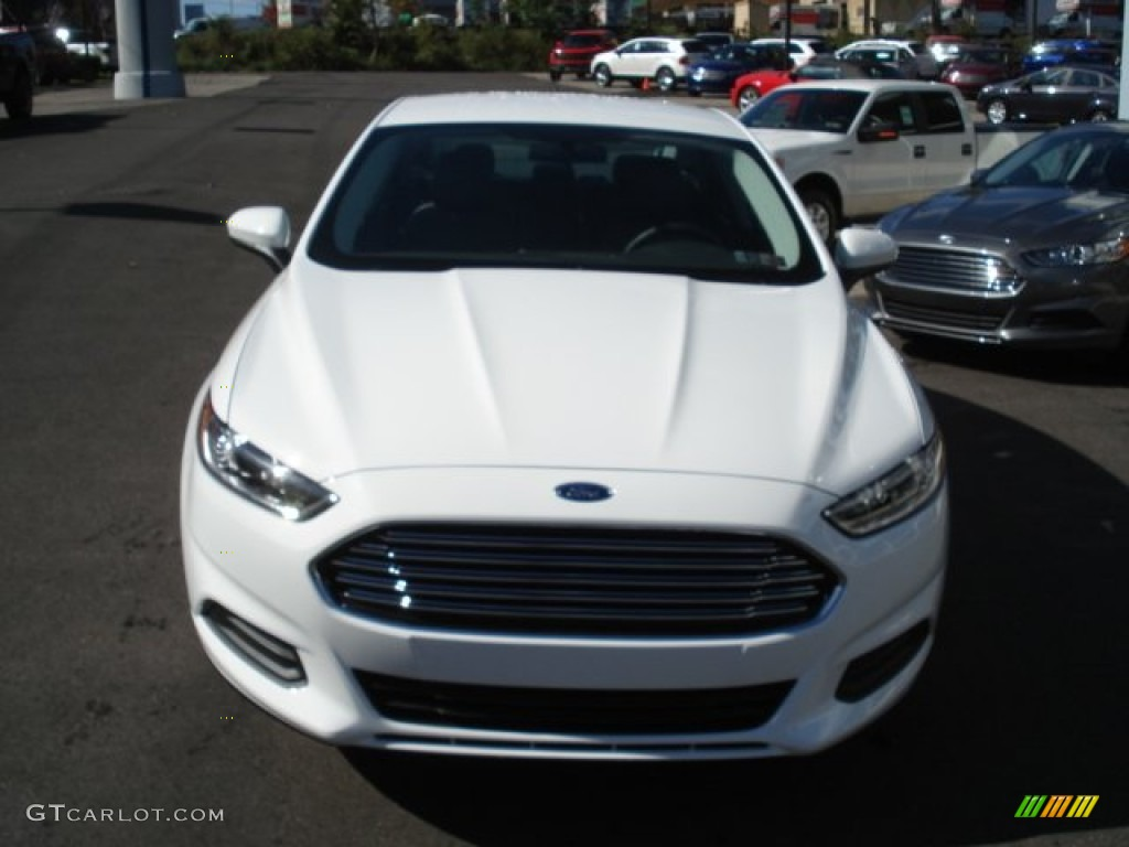 Oxford White 2013 Ford Fusion S Exterior Photo 71931978