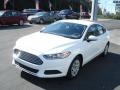 2013 Oxford White Ford Fusion S  photo #4