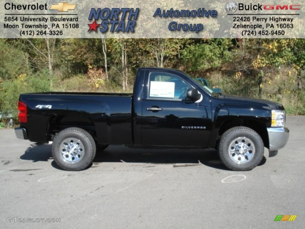 2013 Silverado 1500 Work Truck Regular Cab 4x4 - Black / Dark Titanium photo #1